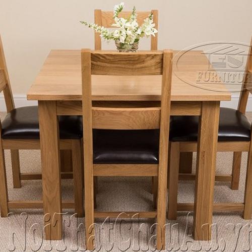 Solid Oak Dining Table 4 Chair Euf144 Eu Furniture Viet Nam Coltd
