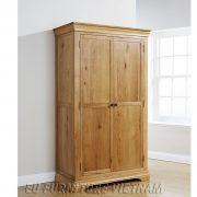 tủ áo gỗ sồi 2 cánh 1m2