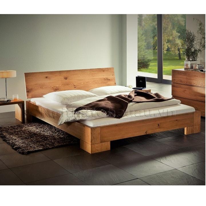 giường ngủ gỗ sồi Atto
