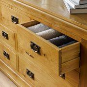 tủ ngăn kéo đựng quần áo gỗ sồi Mỹ 2