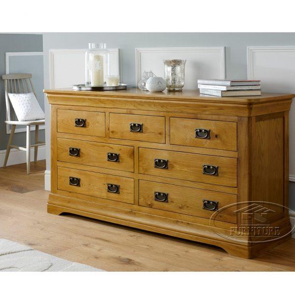 tủ ngăn kéo đựng quần áo gỗ sồi Mỹ