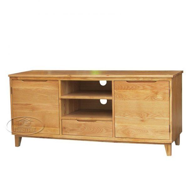 Tủ kệ tivi gỗ sồi Mỹ tự nhiên hàng xuất khẩu châu âu 1m6 - Copy