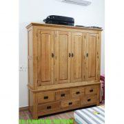 tủ áo gỗ sồi Mỹ 4 buồng