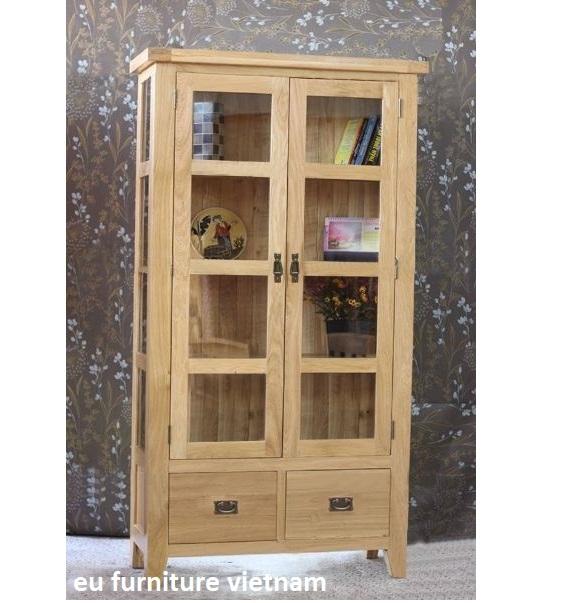 tủ trưng bày gỗ sồi Mỹ