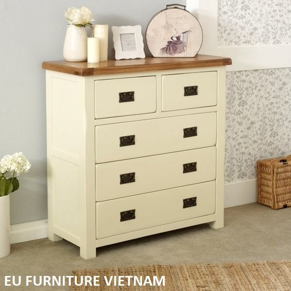 New Hampshire 3 + 2 Drawer Chest cream