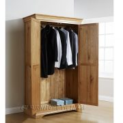 tủ áo gỗ sồi 2 buồng