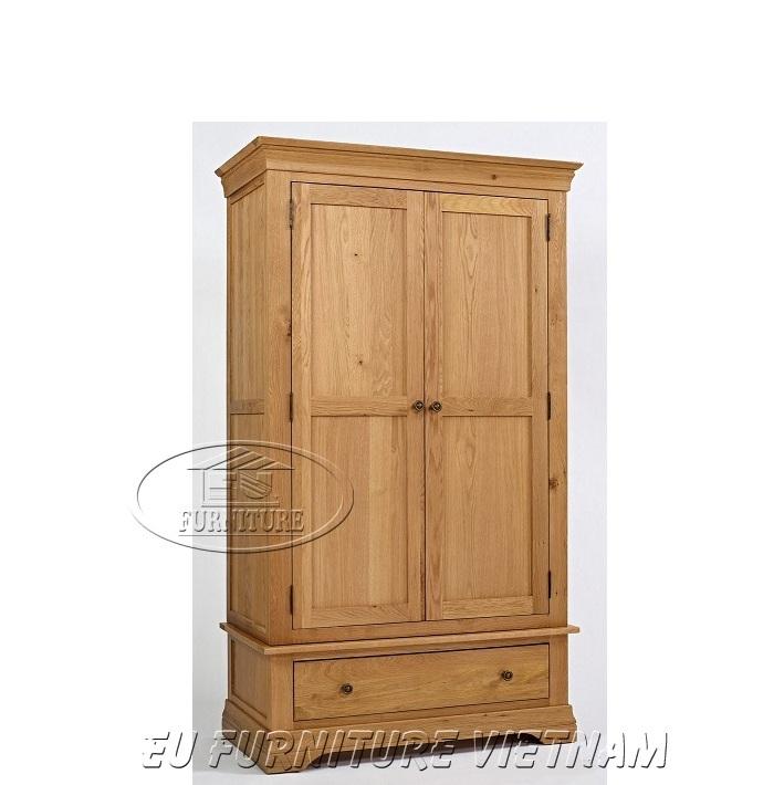 tủ áo gỗ sồi 2 cánh