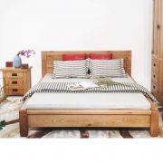giường ngủ gỗ sồi Mỹ tự nhiên