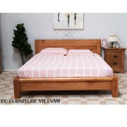 giường ngủ gỗ sồi Mỹ kiểu nhật EUF096N