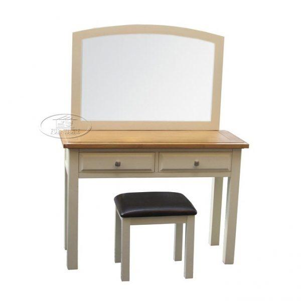 bàn trang điểm gỗ sồi 2 ngăn