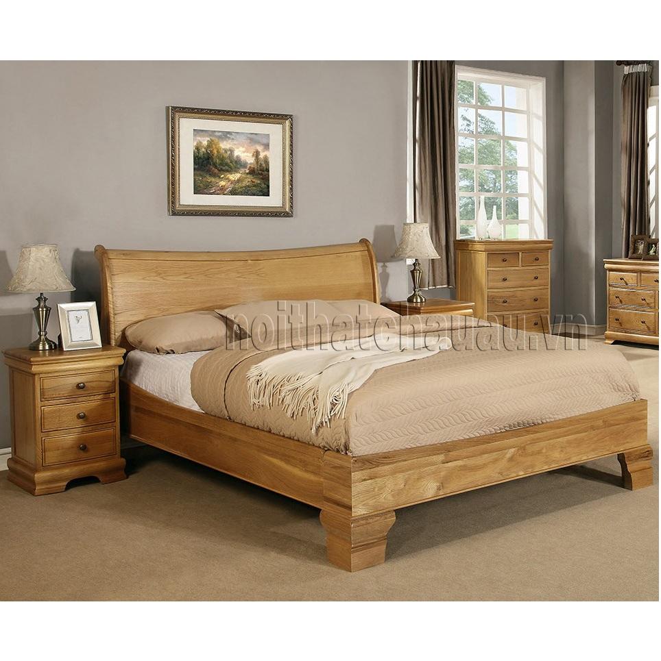 giường thuyền gỗ sồi mỹ