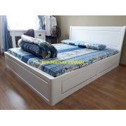 giường ngăn kéo màu trắng gỗ sồi