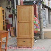 tủ áo gỗ sồi mỹ 1 cánh cửa (2)