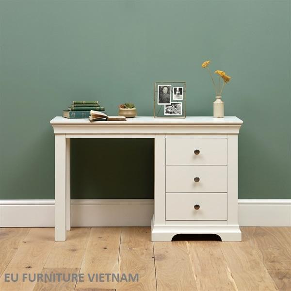 bàn làm việc gỗ sồi Mỹ sơn trắng