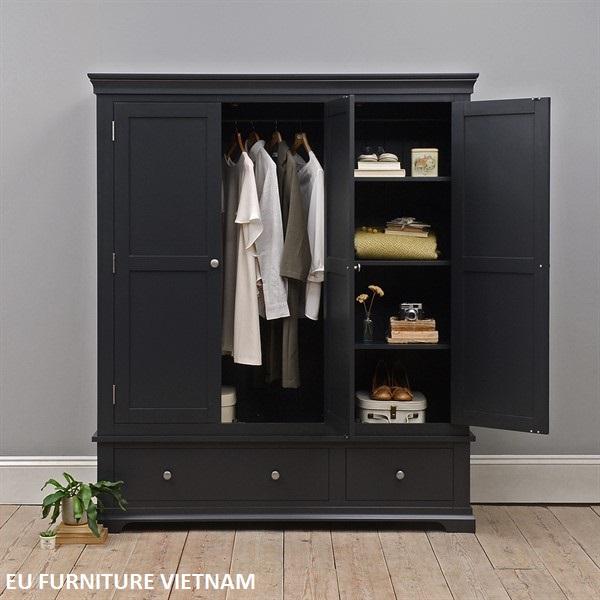 Tủ áo gỗ màu xám xuất khẩu