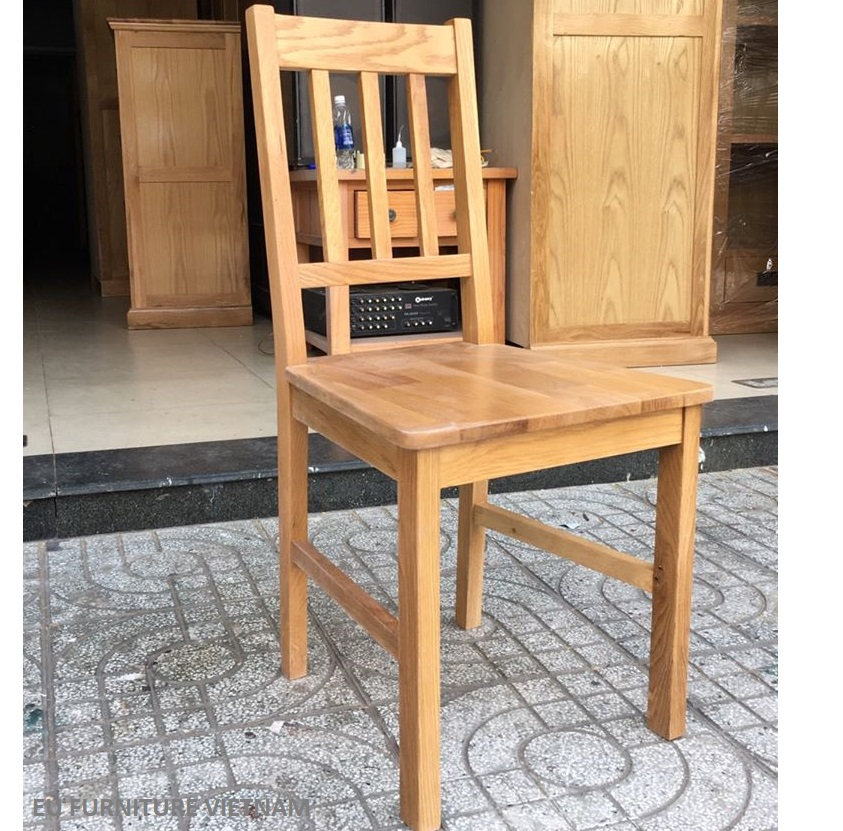 ghế gỗ sồi mỹ mặt gỗ