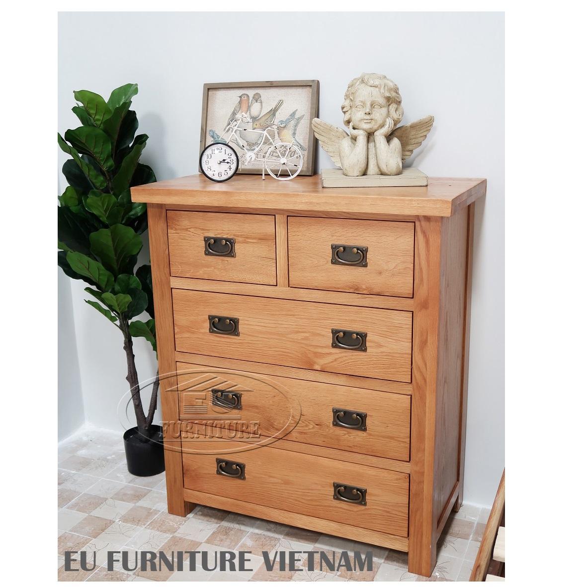 tủ ngăn kéo gỗ sồi Mỹ