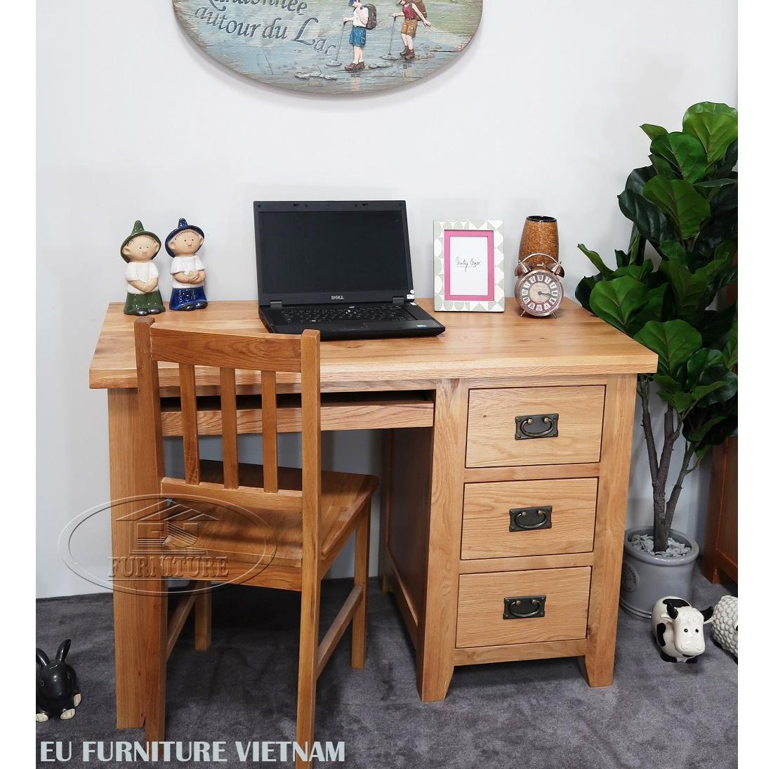 bàn học sinh- bàn làm việc gỗ sồi Mỹ EU059