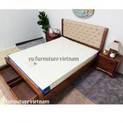 giường ngủ xuất khẩu gỗ óc chó walnut (5)