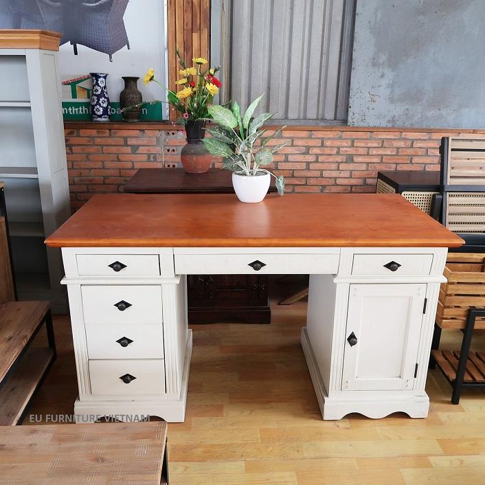bàn làm việc gỗ thông