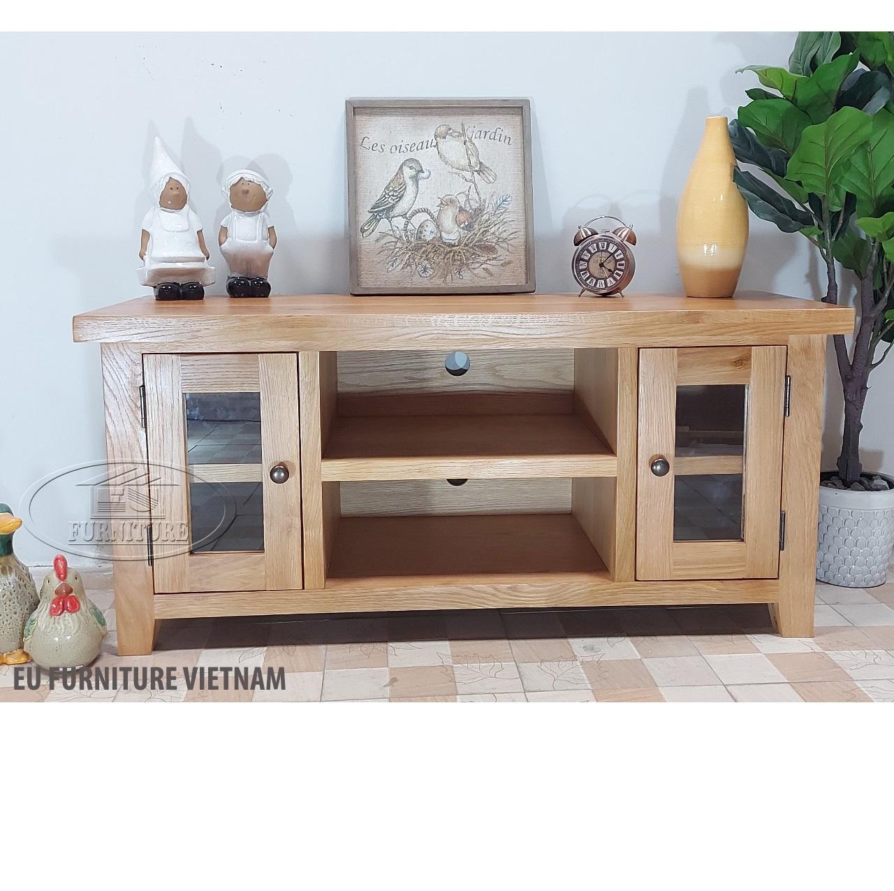Tủ tivi gỗ sồi Mỹ 1m2