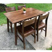 bộ bàn ăn 4 ghế walnut