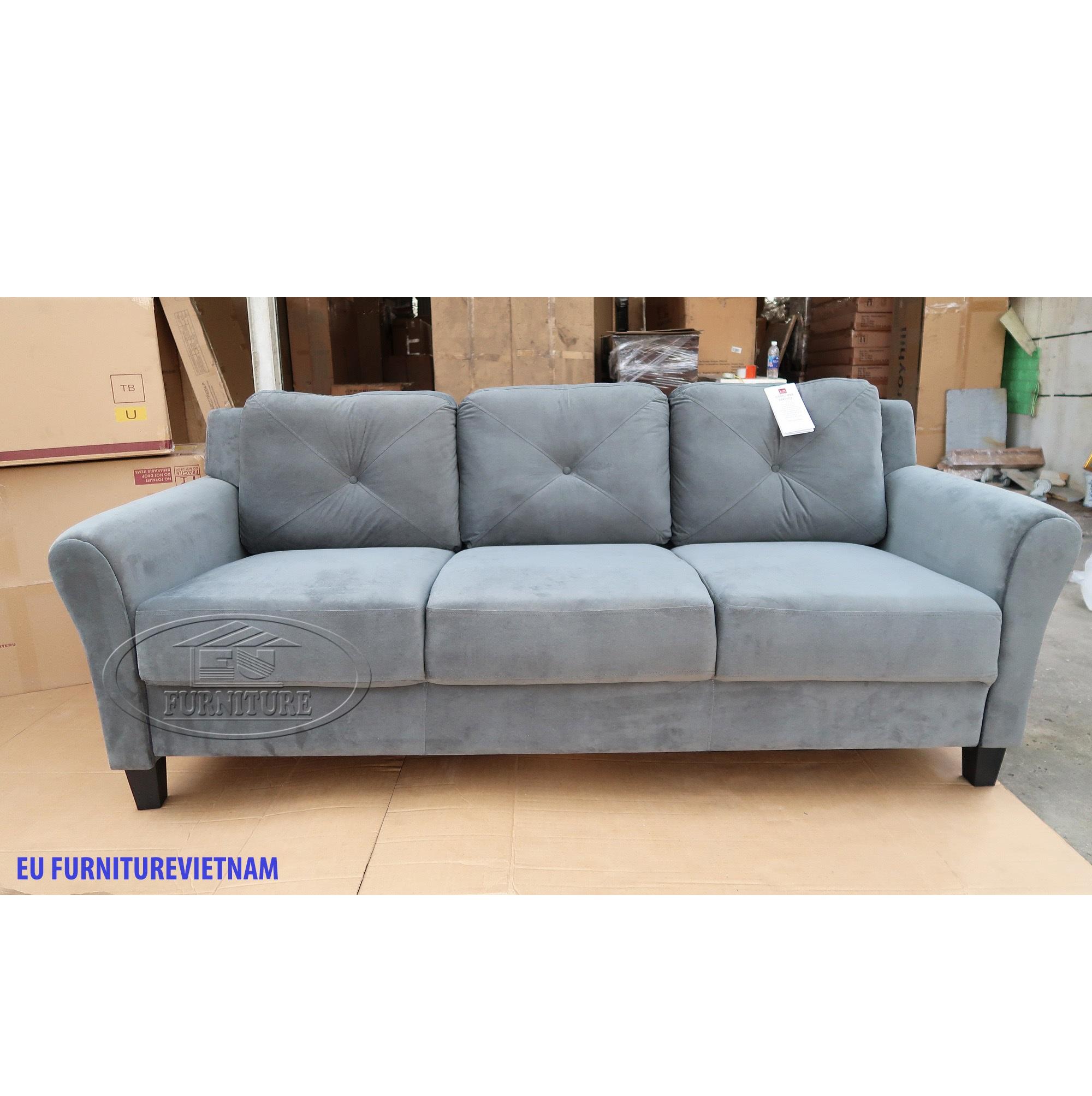 sofa xám 3 chỗ thanh lý