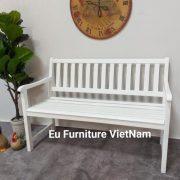 ghế bech sơn trắng