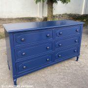 tủ 6 ngăn kéo màu xanh dương navy