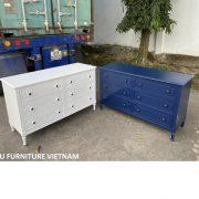 tủ 6 ngăn kéo màu xanh navy