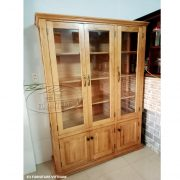tủ trưng bày gỗ sồi Mỹ xuất khẩu