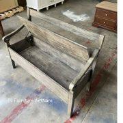 Ghế bench nâng hạ thành Tủ rương đựng đồ 2 trong 1